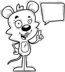 Cartoon Female Mouse Talking
