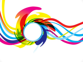 abstract artistic creative rainbow wave explode
