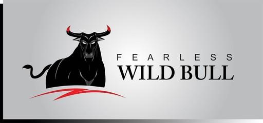black wild bull, black buffalo.