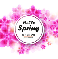 Spring sale background layout for banners.  Vector design for shop poster, leaflet or web banner. Eps 10