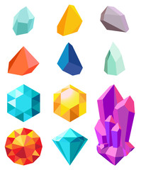 Precious Stones Collection Vector Illustration