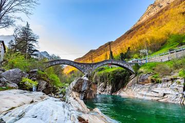 Two arches stone bridge (Ponte dei Salti)