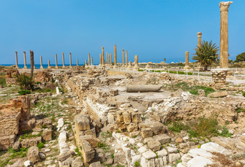romans ruins  Tyre Sur in South Lebanon Middle east