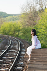 portrait with rail way