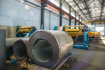 Industrial manufactory workshop for thermal insulation sandwich panel production line for construction