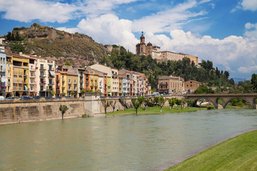 Sanctuary of the Sant Crist from the River Segre