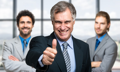 Successful business team welcoming you