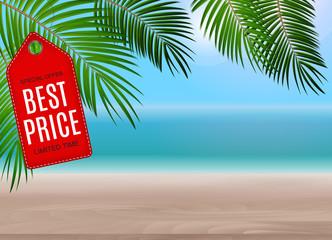 Summer Sale concept poster background. Vector Illustration