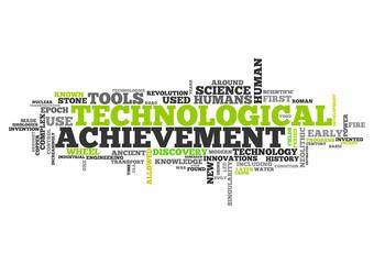 Word Cloud Technological Achievement