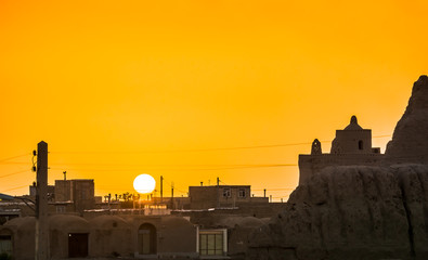 Sunset over Ghoortan village in Iran