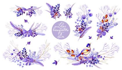 Lilac bouquet cliparts