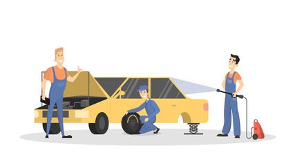 Car wash service.