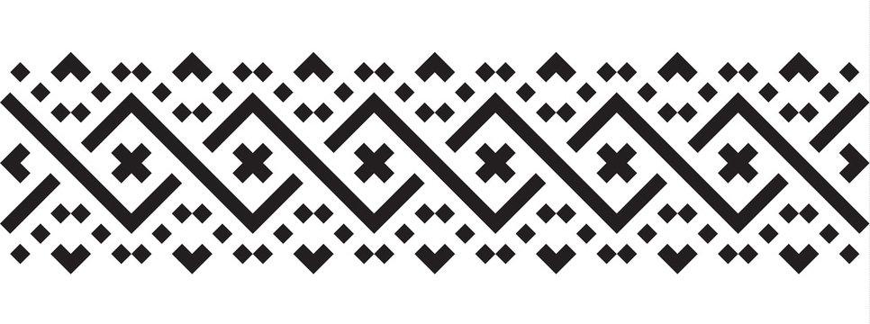 Geometric pattern in ethnic style seamless pattern