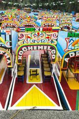 Colorful Boat in Xochimilco, Mexico