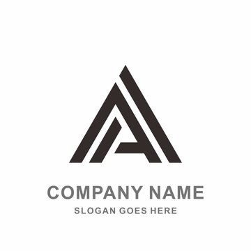 Monogram Letter A Geometric Triangle Architecture Interior Construction Business Company Stock Vector Logo Design Template