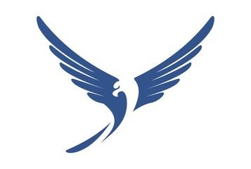 eagle fly abstract logo vector