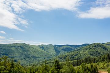green mountain ridge nature landscape