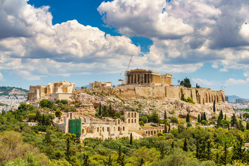 Poster Athens Parthenon, Acropolis of Athens, Greece at summer day