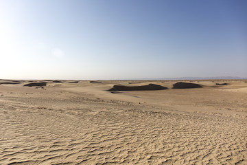 hot day in the Sahara desert