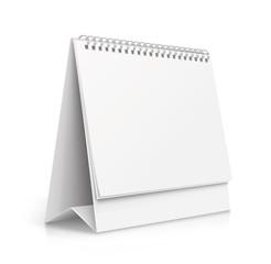 Realistic paper calendar blank - stock vector.