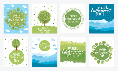 World environment day. Eco friendly ecology concept. .