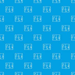 Football strategy pattern vector seamless blue repeat for any use