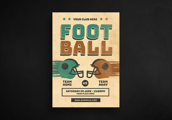 Vintage Football Flyer Layout