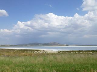 Laguna de Fuente de Piedra,pueblo de Málaga (Andalucía,España)