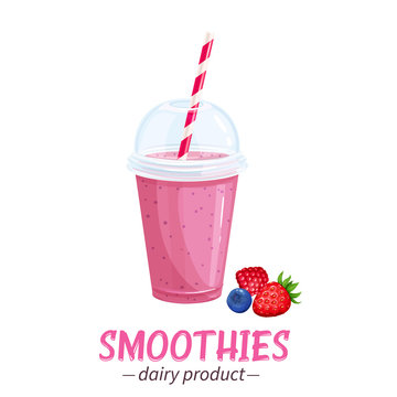 Vector smoothies icon.