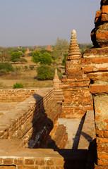 Brick stupas and temple decoration