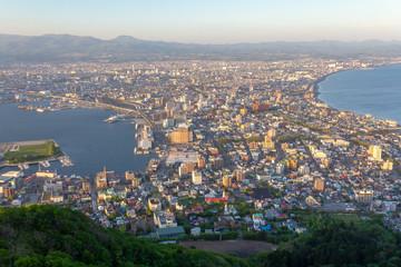 北海道函館港の街並_函館山山頂より望む
