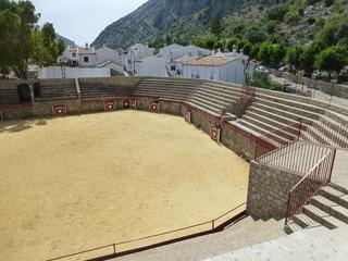 Plaza de toros de Villaluenga del Rosario, pueblo español de la provincia de Cádiz, Andalucía (España)