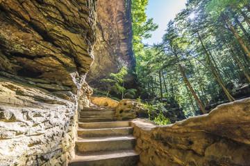 Old mans cave Hocking hill ohio