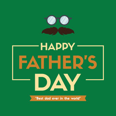 Father day eyeglasses design greeting card