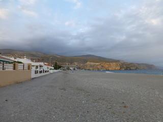Calahonda y El cabo Sacratif entre Motril y Gualchos, situado en la costa mediterránea  de Granada (Andalucia,España)