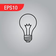 Creative idea in bulb shape as inspiration concept. Vector design element.