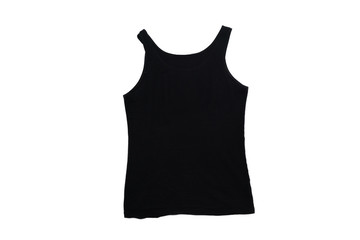 isolated woman black vest