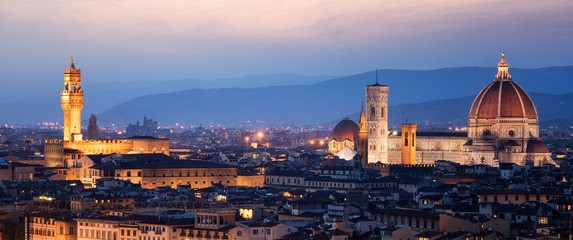 Florence Cathedral at Night in Florence - Italy