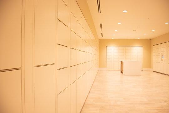 Parcel room, locker room, safe room
