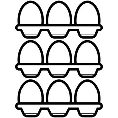 Eggs icon vector.