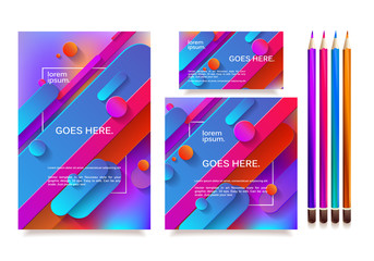 Business templates for multipurpose presentation.