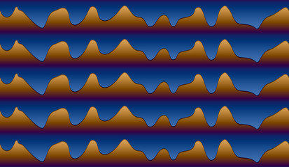 Seamless pattern of wavy lines
