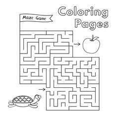 Cartoon Turtle Maze Game