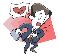 ビジネスマン-心臓の痛み