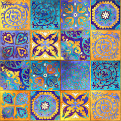Morocco mosaic design. Abstract ornamental tile background