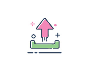 upload icon design illustration,line filled style design, designed for web and app