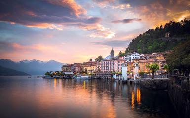 Romantic sunrise at Bellagio, Lake Como, Italy