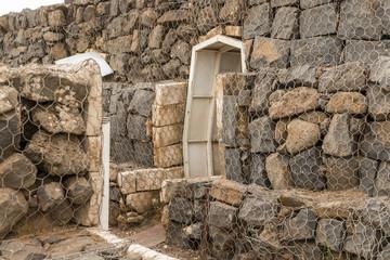 Military bunker entrance