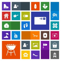 Modern, simple, colorful vector icon set with barbecue, tower, boot, communication, cosmos, cooking, business, helmet, house, send, motorbike, footwear, security, star, meat, biker, website, web icons