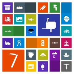 Modern, simple, colorful vector icon set with schedule, business, transport, car, hat, motel, delivery, box, food, tool, day, timetable, photo, ship, mail, document, wrench, cargo, shipping, tea icons